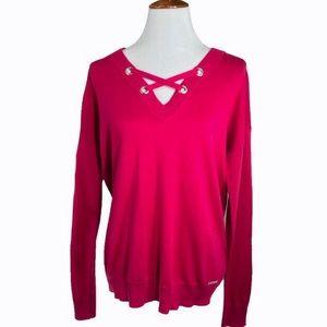 Michael Kors Fuchsia Knit Tunic